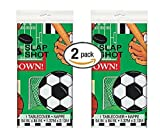 2 Pk Classic Sports Plastic Tablecloth, 84 x 54