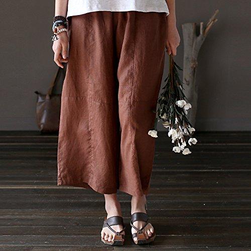 de Aeneontrue Pantalones Mujer Aeneontrue Pantalones algod Mujer PRfq4nn