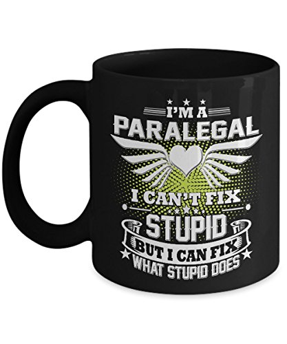 - Paralegal Mug Paralegal Coffee Mug Funny Beer Travel Gifts From Kids Dad Wife Mom Friends as Seen on T Shirt 11 Ounce Black Ceramic Tea Cup