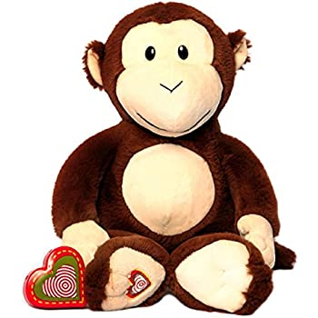 5ff9998a9d8 My Baby s Heartbeat Bear - Monkey Stuffed Animal w  20 sec Voice Recorder -  Monkey