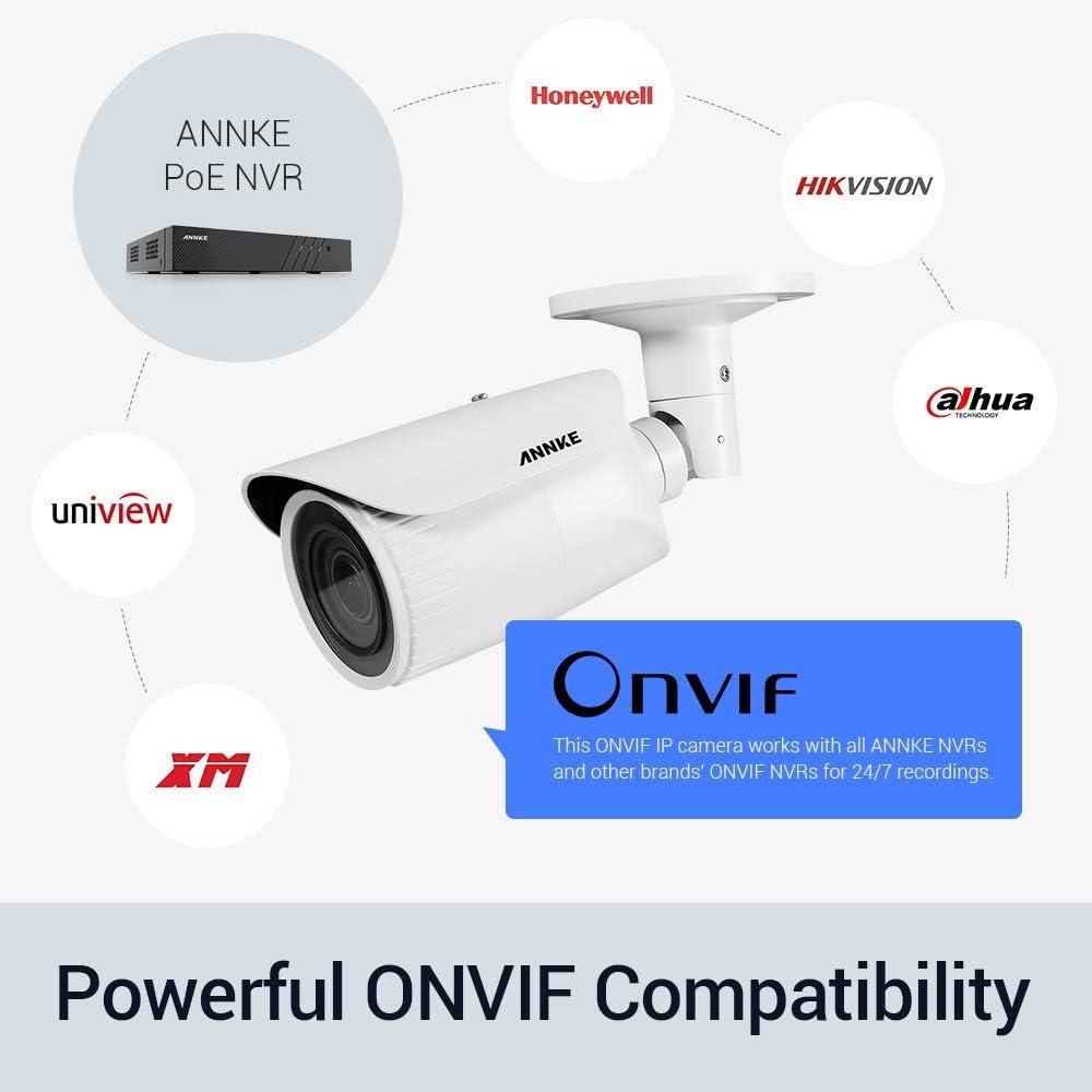 4X Optischer Zoom H.265+ Format Fernzugriff und IP67 Wasserfest f/ür Aussen Haus Sicherheit ONVIF Innen ANNKE C500 POE /Überwachungskamera IP Kamera mit Micro SD Kartensteckplatz