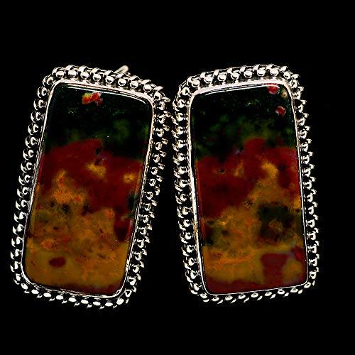 Ana Silver Co Ocean Jasper Earrings 1 1/4
