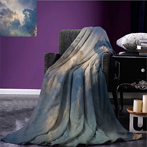 Clouds cool blanket Majestic Rain Storm Clouds over the Sky High above the Ground Environment Scenery Pattern Blue White size:51