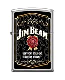 Zippo Jim Beam Label Satin Chrome Pocket Lighter