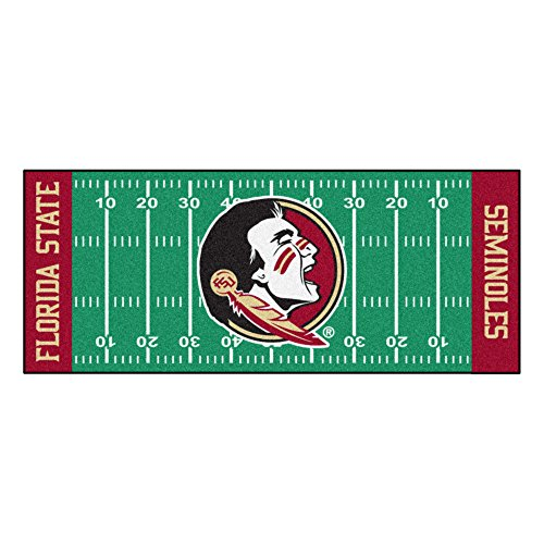 FANMATS NCAA Florida State University Seminoles Nylon Face Football Field Runner