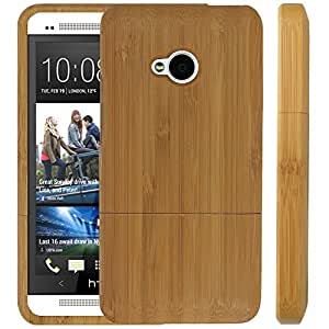 Slim Natural Wooden Case Compatible With HTC One M7 - Bamboo - All Repair Parts USA Seller