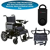 Drive Cirrus Plus EC Folding Power Wheelchair, 20'' Seat & FREE 130 dB Black Personal Safety Alarm/Siren! + Black Medical Utility Bag!