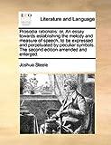 Prosodia Rationalis, Joshua Steele, 1170513212