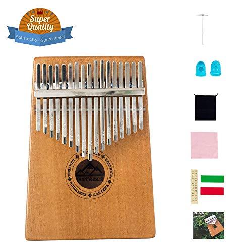 EASTROCK Kalimba 17 Keys Thumb Piano for Beginner Portable Finger Piano with Kalimba Music Book and Tune Hammer (kalimba…