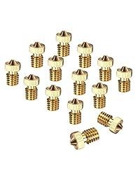 14 cabezales de impresión EAONE con boquilla extrusora de cobre de 0.007, 0.011, 0.015, 0.019, 0.023, 0.031, 0.039 pulgadas para impresora 3D M6, Makerbot E3D (2 piezas de cada tamaño)