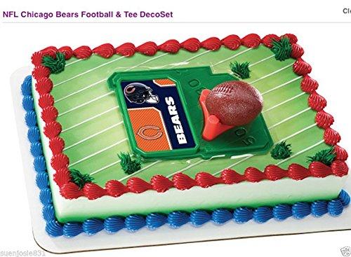 Chicago Bears NFL Football & Tee Cake Decoration