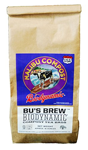 Biodynamic Tea - Malibu Compost Bu's Brew Biodynamic Compost Tea Bags, 1 lb