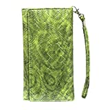 Jo Jo A5 Bali Leather Wallet Universal Pouch Cover Case For Micromax JOY X1850 Green