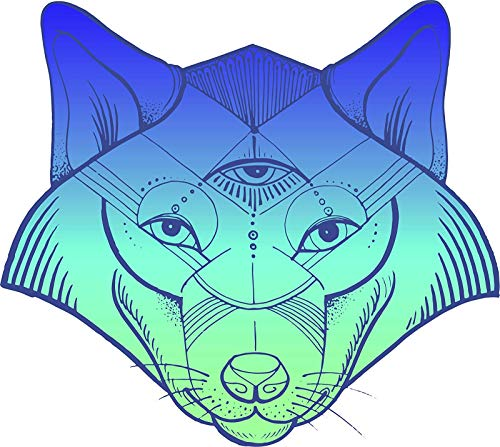 (BW MAG Magnet Cool Majestic Tribal Spirit Animal Cartoon Emoji (2