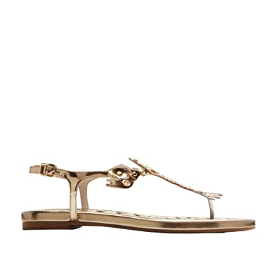 aae50d72df32 Image Unavailable. Image not available for. Color  Cole Haan Womens Pinch  Lobster Sandal 9.5 Gold-Rose ...
