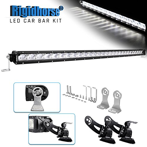 LED Light Bar Kit Rigidhorse 42″ 300W Dual-Mode Light Bar LED Work Light Driving Light with Non-destructive Mounting Bracket for Sports Car SUV Jeep Pickup