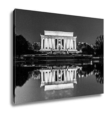 Ashley Canvas, Reflections Of The Lincoln Memorial In The Reflecting Pool, 24x30