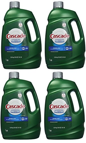 Cascade Advanced Power liquid machine dishwasher detergent with Dawn, 125-fl. oz., plastic bottle (125 fl oz) -4 Pack by Cascade