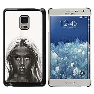 Stuss Case / Funda Carcasa protectora - Oscuro Belleza - B & W Chica - Samsung Galaxy Mega 5.8