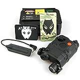 ATAIRSOFT PEQ-15 Style LED Flashlight + Red Laser Sight Black for AEG GBB CQB