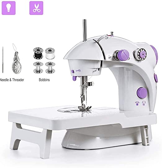 fgfh Mini máquina de coser hogar máquina de coser eléctrica ...