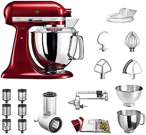 Robot de cocina KitchenAid Artisan, 5KSM175PS, incluido pack veggie Excelentes accesorios:Cortador de verduras incl.Tambor adicional, cortador en espiral y accesorios estándar.: Amazon.es: Hogar