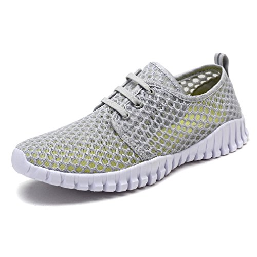 KEESKY Quick Drying Water Shoes – Mesh Aqua Shoes for Women Grey...