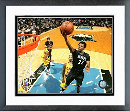 Andrew Wiggins Minnesota Timberwolves NBA Action Photo (Sized: 12.5 ''x 15.5'') Framed by NBA