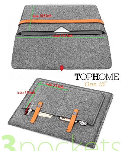 tophome Laptop Sleeve Fashion Wolle Filz-Laptop Big Displayschutzfolie Tasche 38,1