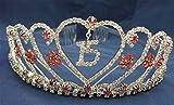 Quinceanera 15 Birthday Tiara Swarovski Clear Crystal Hot Pink Rhinestone Princess WT106
