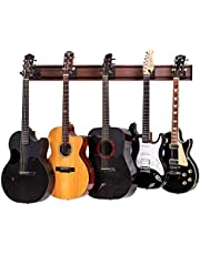 $139 » String Swing 5 Guitar Wall Rack Mount for Electric Acoustic and Bass Guitars – Walnut Print Aluminum Slatwall – Museum Quality – Made in the USA SW5RL-BW-K