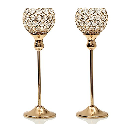 Day Votive Candle Holders Pack of 2 Set for Modern Wedding Coffee Table Decorative Centerpiece Gold (Style Votive Candle Lantern)
