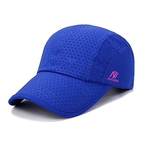 Gisdanchz Dryfit Running Hat,Quick -Drying Hat,Mens Womens Waterproof Lightweight Hat Outdoor Polyester Mesh Fitted Hats Fishing Hiking Sports Breathable Workout Adujustable Baseball CapDeep Blue