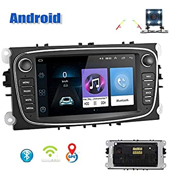 Image of Android Car Radio for Ford Focus GPS AMprime 7 Inch Touch Screen Navigation WiFi Bluetooth FM Car Multimedia Player for Ford Mondeo C-MAX S-MAX Galaxy II Kuga In-Dash DVD & Video Receivers