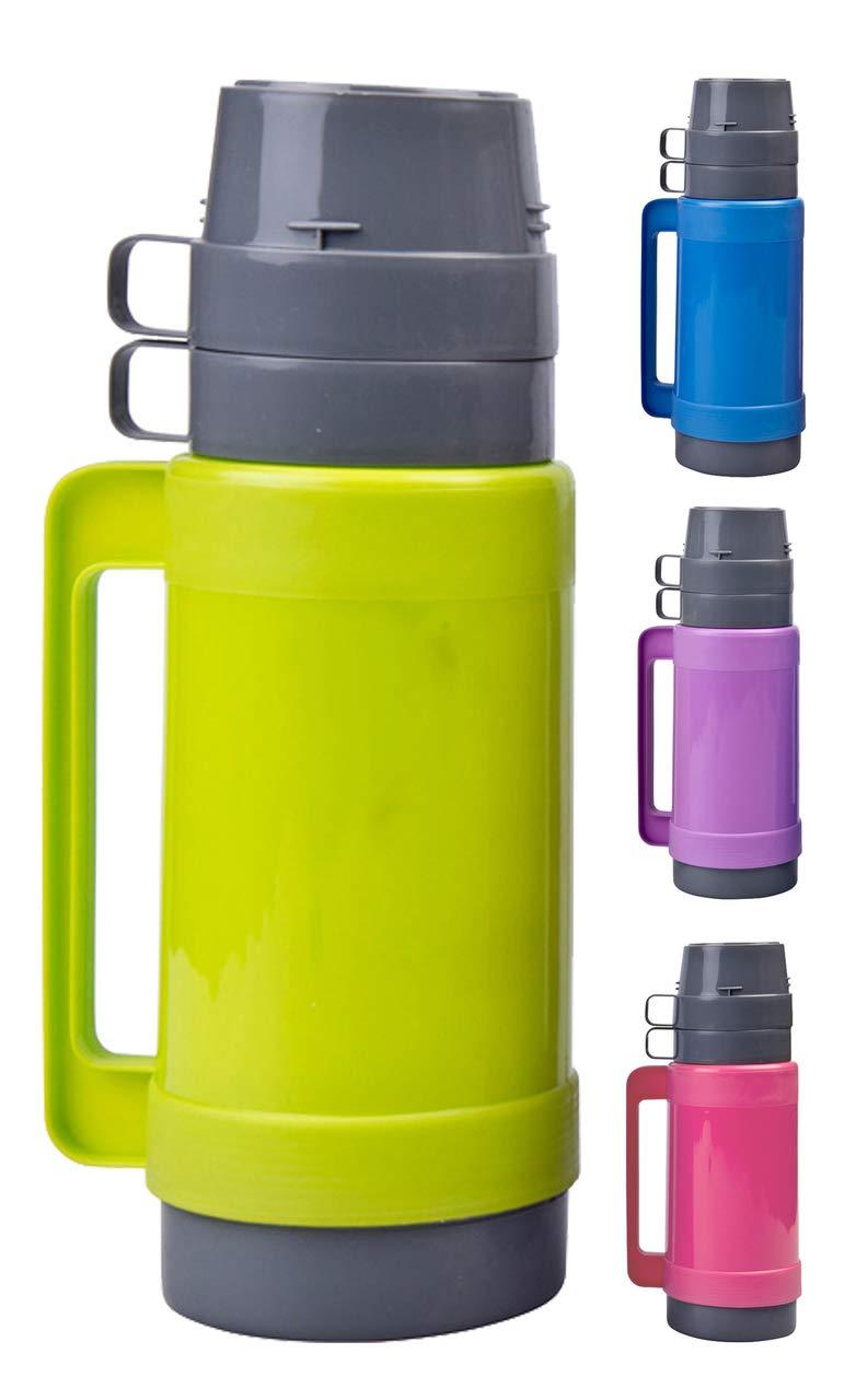 azul rosa o morado verde con vaso de vidrio verde 1/litro con 2/tazas y azucarero Dep/ósito