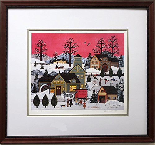 """Jane Wooster Scott """"Pennsylvania Dutch Treat Hand Signed Lithograph Framed Size is Approx. 24"""" x 22"""" Image Size is Approx. 11"""" x 15"""""""