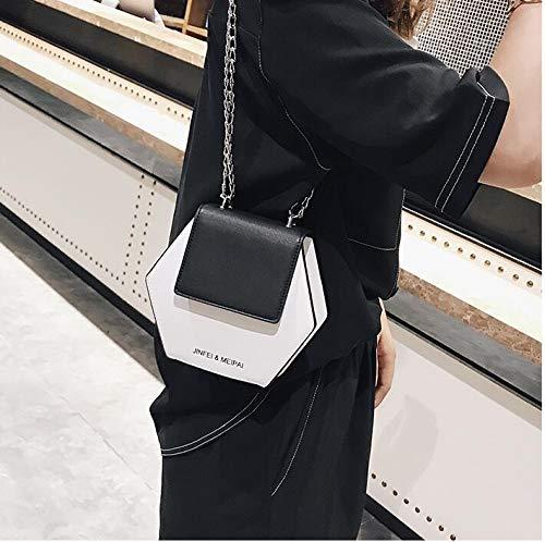 Borsa tracolla piccola con di uomo donna a semplice a tracolla forma a manici le da a borsa da White Borsa tracolla per mazze semplice da festa U8Y0qw