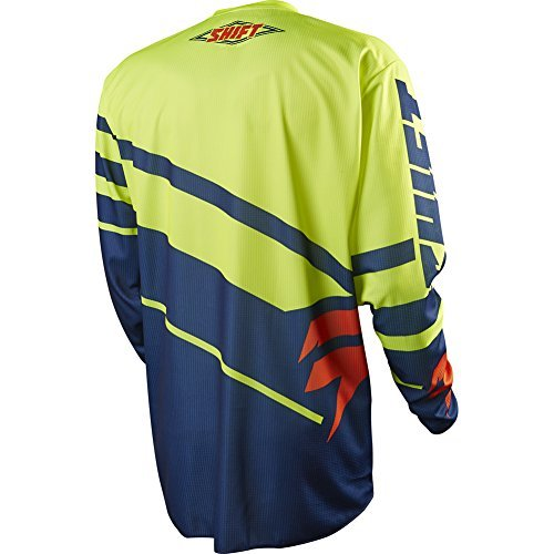Shift Racing Assault Race Youth Boys Off-Road Motorcycle Jersey - Navy/Yellow / X-Large