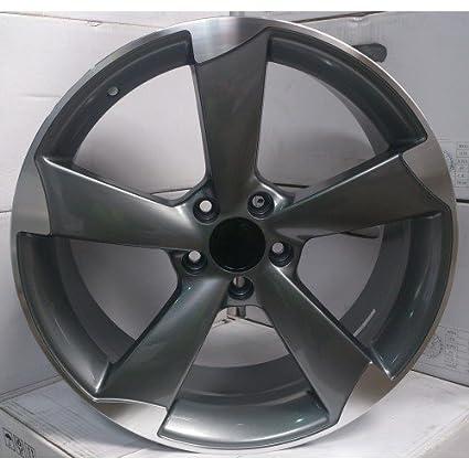 2 x Ruedas de aleación Audi TTRS estilo 18 x 8.0 Gris greggson (gg-
