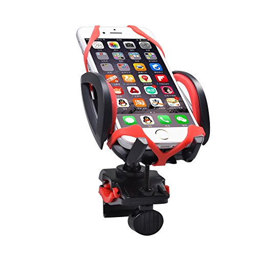 Sha Mo Camel Shield 360 Degree Rotating Universal Bike Phone Mount holder for Motorcycle Cycling GPS Units-Red