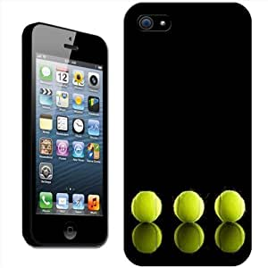 Row Of Tennis Balls with Reflection Hard Case Clip On Back Cover For Apple iPhone 5s