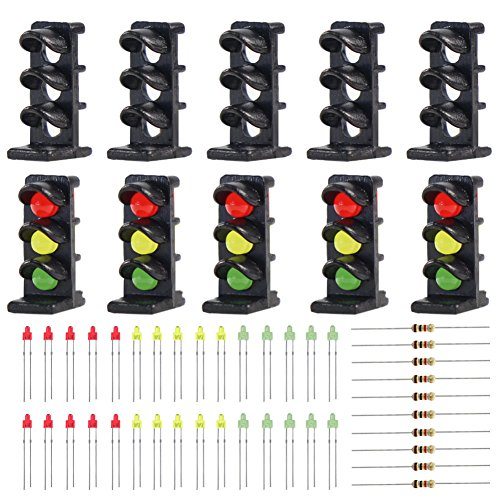 Evemodel JTD15 10 Sets Target Face with LEDs for Railway Dwarf Signal N Z Scale 3 Aspects