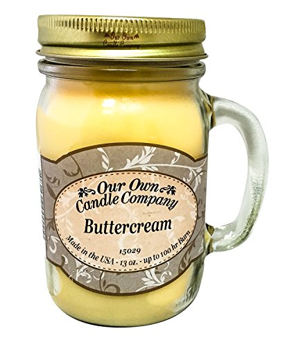 Our Own Candle Company Buttercream Scented 13 Ounce Mason Jar Candle ()