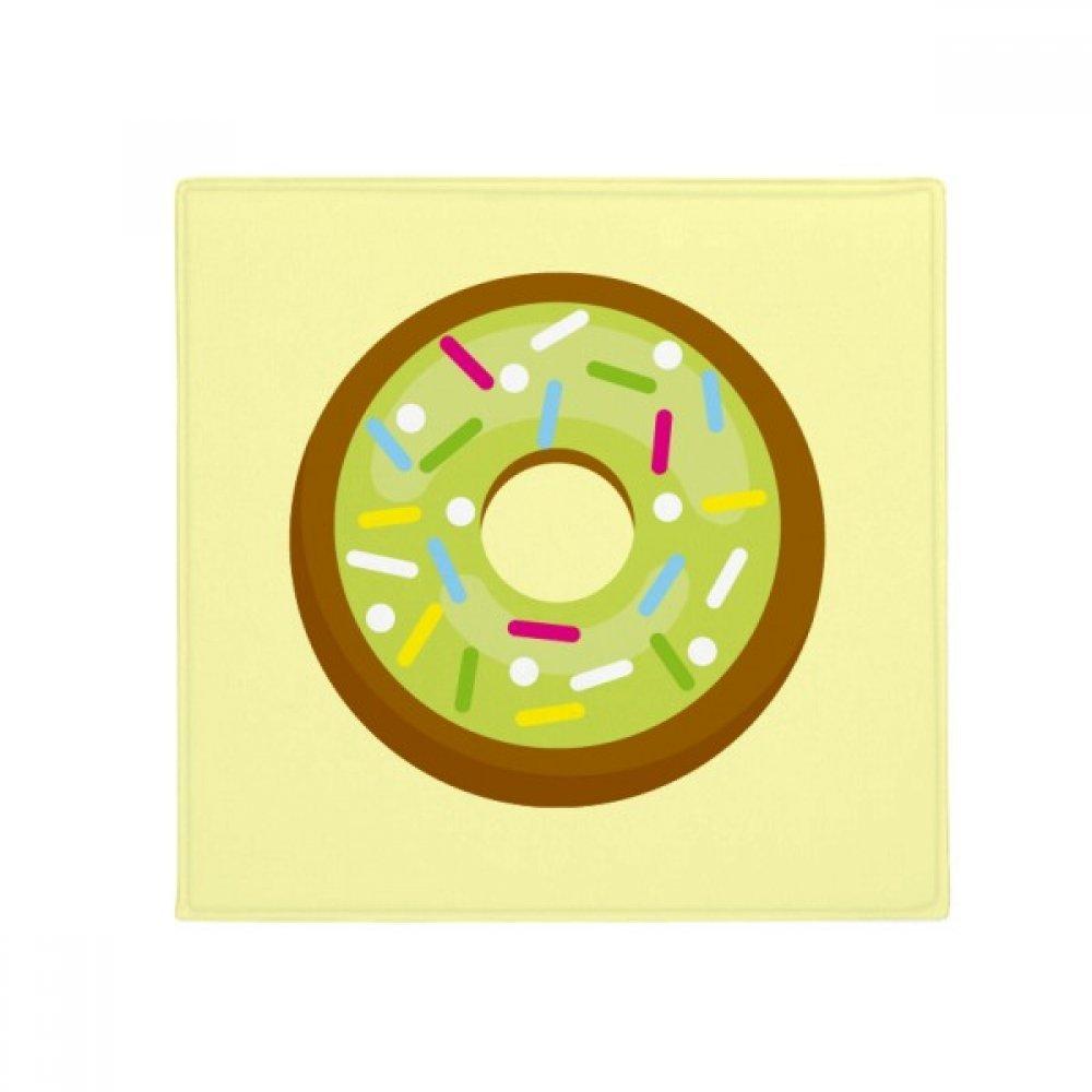DIYthinker Green Doughnut Western Dessert Food Anti-Slip Floor Pet Mat Square Home Kitchen Door 80Cm Gift