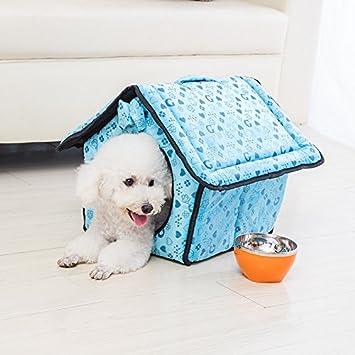 Suministros de mascota mascotas mascotas perro casas camada criadero cuatro temporadas universal rojo/azul/rosa, S/M/L , blue , L: Amazon.es: Hogar