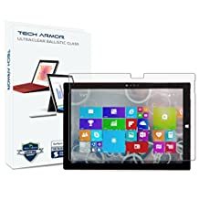"Surface Pro 3 Glass Screen Protector, Tech Armor Premium Ballistic Glass Microsoft Surface Pro 3 (2014)[Not 10.1""] Screen Protectors [1]"