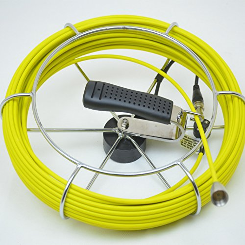 100ft / 30m Push Rod Cable Reel for The Sewer Pipe Inspection Camera ()