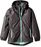 Helly Hansen Girls Freya Rain Jacket, Size 10, Charcoal Print