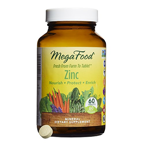 MegaFood - Zinc, Supports Healthy Tissue Development, Wound Recovery & Immune Function, 60 Tablets (FFP)