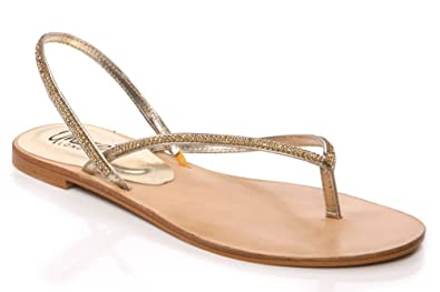 b09c02bc9 Image Unavailable. Image not available for. Colour  Unze Womens Ladies  Embellished Flat Evening Thong Sandals ...